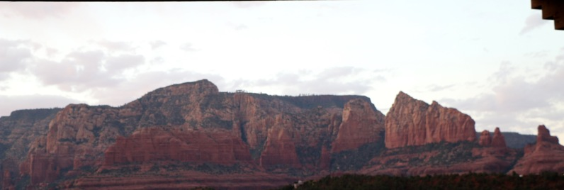 Sunset at dinner - Mariposa, Sedona