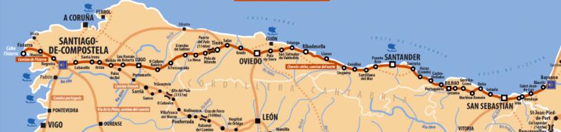 Camino del Norte Map